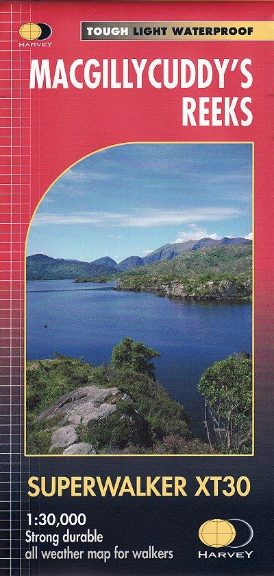 MacGillycuddy s Reeks Superwalker | wandelkaart 1:40.000 9781851376018  Harvey Maps   Wandelkaarten Munster, Cork & Kerry