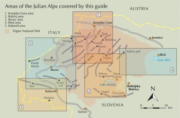 Walking the Julian Alps of Slovenia 9781852847098  Cicerone Press   Meerdaagse wandelroutes, Wandelgidsen Slovenië