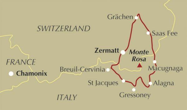 Trekking The Tour of Monte Rosa 9781852847302 Wright Cicerone Press   Meerdaagse wandelroutes, Wandelgidsen Wallis