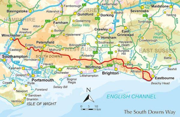 The South Downs Way   wandelgids 9781852849405 Reynolds Cicerone Press   Meerdaagse wandelroutes, Wandelgidsen Kent, Sussex, Isle of Wight