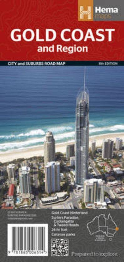 Gold Coast 1:100.000 9781865006314  Hema Maps   Landkaarten en wegenkaarten Australië