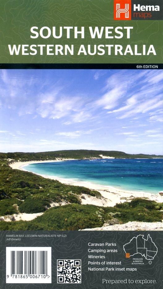Western Australia, South West 1:700.000 9781865006710  Hema Maps   Landkaarten en wegenkaarten Australië