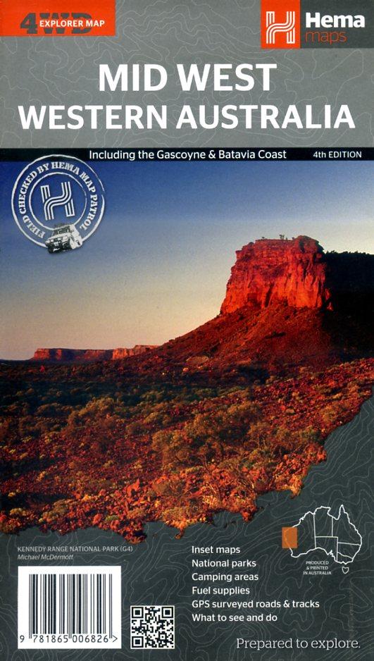 Mid West, Western Australia 1:1,25000000 9781865006826  Hema Maps   Landkaarten en wegenkaarten Australië