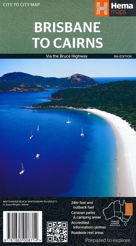 Brisbane to Cairns 1:2.000.000 9781865008714  Hema Maps   Landkaarten en wegenkaarten Australië