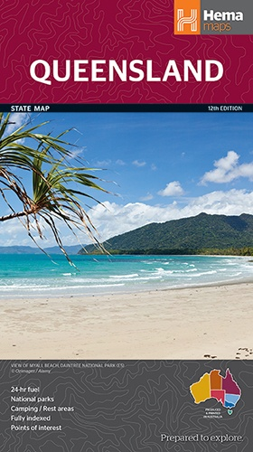 Queensland 1:2.500.000 9781865008738  Hema Maps   Landkaarten en wegenkaarten Australië