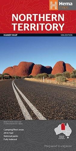Northern Territory 9781865009766  Hema Maps   Landkaarten en wegenkaarten Australië