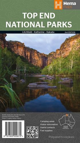 Kakadu, Katherin, Litchfield National Park 1:350.000 9781865009872  Hema Maps   Landkaarten en wegenkaarten Australië