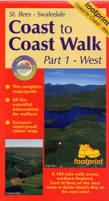 Coast to Coast Part 1, West 9781871149630  Footprint   Wandelkaarten Northumberland, Yorkshire Dales & Moors, Peak District, Isle of Man