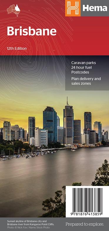 Brisbane 9781876413859  Hema Maps   Stadsplattegronden Australië
