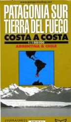 Patagonia Sur + Tierra del Fuego 1:1m. [MW211] 9781879568136  Zagier & Urruty   Landkaarten en wegenkaarten Chili, Argentinië, Patagonië