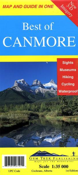 Best of Canmore 1:35.000 9781895526196  Gem Trek Publishing Wandelkaarten Canada  Wandelkaarten West-Canada, Rockies
