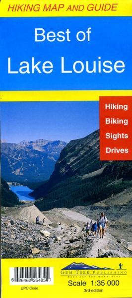 Lake Louise 1:35.000 (Best of) 9781895526486  Gem Trek Publishing Wandelkaarten Canada  Wandelkaarten West-Canada, Rockies