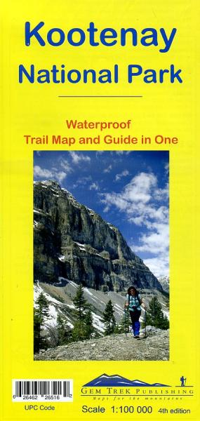 Kootenay NP  1:100.000 Explorer Map (10) 9781895526516  Gem Trek Publishing Wandelkaarten Canada  Wandelkaarten West-Canada, Rockies