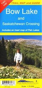 Bow Lake + Saskatchewan Crossing 1:70.000 9781895526561  Gem Trek Publishing Wandelkaarten Canada  Wandelkaarten West-Canada, Rockies