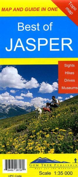 Best of Jasper  1:35.000 Explorer Map 9781895526721  Gem Trek Publishing Wandelkaarten Canada  Wandelkaarten West-Canada, Rockies