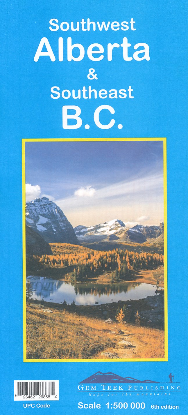 Southwest Alberta, Southeast British Columbia (2) 9781895526868  Gem Trek Publishing Explorer's Maps  Landkaarten en wegenkaarten West-Canada, Rockies