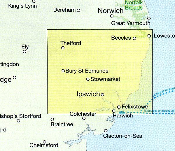 CCG18 Suffolk Cycle Map 1:110.000 9781900623315  Cycle City Guides / Sustrans   Fietskaarten Lincolnshire, Norfolk, Suffolk, Cambridge