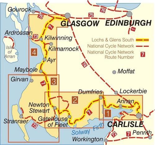 NN07B Lochs & Glens South  (TB 329) 9781901389333  Sustrans Nat. Cycle Network  Fietskaarten Zuid-Schotland