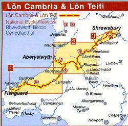 NN81  Lon Cambria + Lon Teifi 9781901389609  Sustrans Nat. Cycle Network  Fietsgidsen, Meerdaagse fietsvakanties Wales