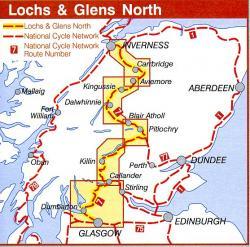 NN7C  Lochs & Glens North 9781901389623  Sustrans Nat. Cycle Network  Fietskaarten de Schotse Hooglanden (ten noorden van Glasgow / Edinburgh)