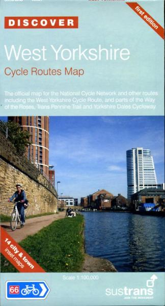 NN67  West Yorkshire Cycle Routes Map 9781901389852  Sustrans Nat. Cycle Network  Fietskaarten Northumberland, Yorkshire Dales & Moors, Peak District, Isle of Man