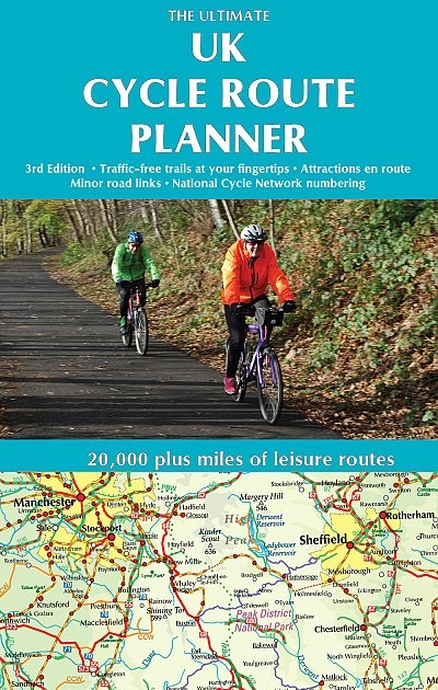 Ultimate UK Cycle Route Planner map 9781901464351  Excellent Books   Fietskaarten, Meerdaagse fietsvakanties Groot-Brittannië