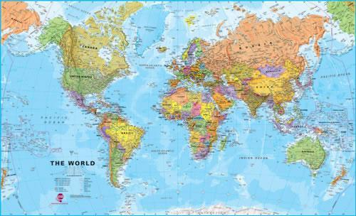 Wereld 1:40M. PAPIER 9781903030516  MAPS International   Wandkaarten Wereld als geheel