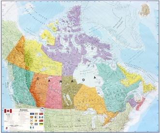 Canada 1:5.700.000, wandkaart 9781904892380  MAPS International   Wandkaarten Canada