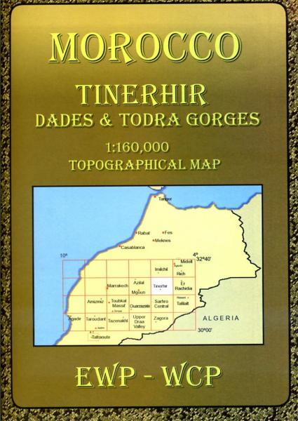 Tinerhir, Dades + Todra Gorges (HE) 9781906449032  EWP Morocco Maps 1:160.000  Landkaarten en wegenkaarten Marokko