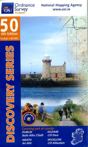 DM-50  Dublin City and District 9781907122170  Ordnance Survey Ireland Discovery Maps 1:50.000  Wandelkaarten Dublin