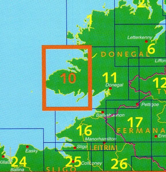 DM-10  Donegal Killeybegs 9781907122453  Ordnance Survey Ireland Discovery Maps 1:50.000  Wandelkaarten Galway, Connemara, Donegal