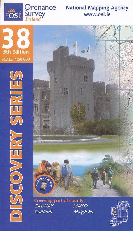 DM-38  Mayo - Galway 9781908852304  Ordnance Survey Ireland Discovery Maps 1:50.000  Wandelkaarten Galway, Connemara, Donegal
