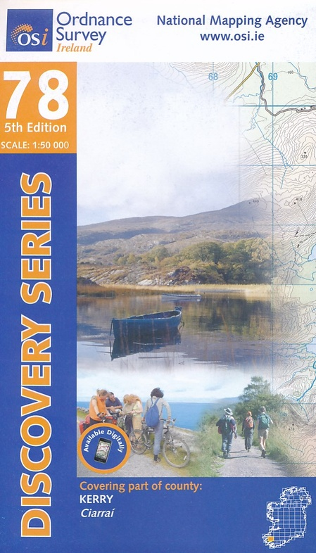 DM-78  The Reeks / Kerry 9781908852328  Ordnance Survey Ireland Discovery Maps 1:50.000  Wandelkaarten Munster, Cork & Kerry