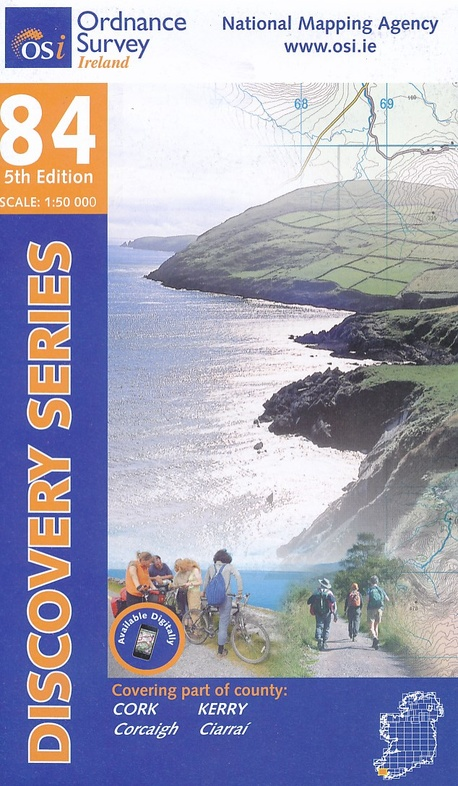 DM-84  (parts of counties Cork, Kerry) 9781908852359  Ordnance Survey Ireland Discovery Maps 1:50.000  Wandelkaarten Munster, Cork & Kerry