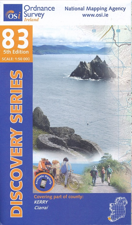 DM-83  covering part of County Kerry 9781908852472  Ordnance Survey Ireland Discovery Maps 1:50.000  Wandelkaarten Munster, Cork & Kerry