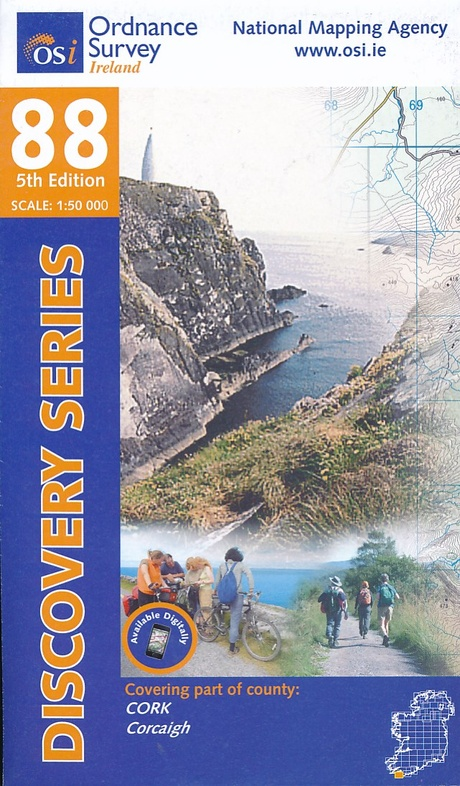DM-88 9781908852571  Ordnance Survey Ireland Discovery Maps 1:50.000  Wandelkaarten Munster, Cork & Kerry