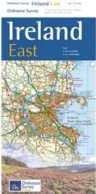OSHM-3  Ireland East   landkaart - wegenkaart Oost-Ierland 1:250.000 9781908852854  Ordnance Survey Ireland Irish Holiday Maps  Landkaarten en wegenkaarten Wicklow Mountains, Leinster