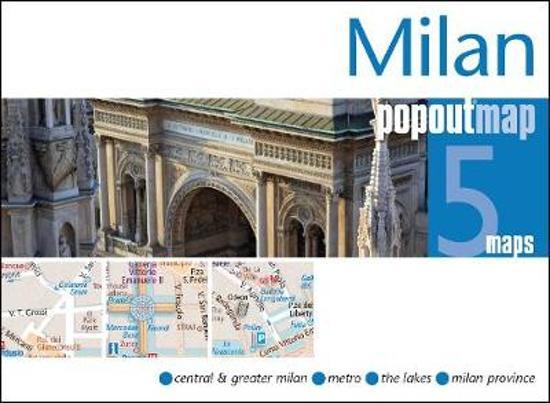 Milaan pop out map | stadsplattegrondje in zakformaat 9781910218051  Grantham Book Services PopOut Maps  Stadsplattegronden Milaan, Lombardije, Italiaanse Meren