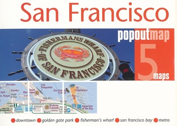 San Francisco pop out map | stadsplattegrondje in zakformaat 9781910218266  Grantham Book Services PopOut Maps  Stadsplattegronden California, Nevada