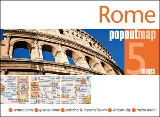 Rome pop out map | stadsplattegrondje in zakformaat 9781910218334  Grantham Book Services PopOut Maps  Stadsplattegronden Rome, Lazio