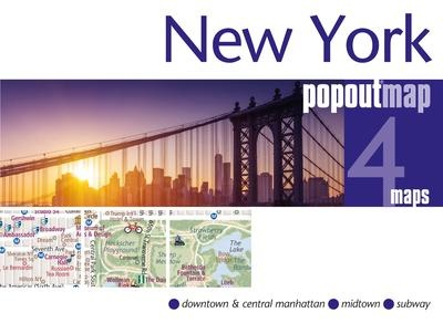 New York pop out map | stadsplattegrondje in zakformaat 9781910218594  Grantham Book Services PopOut Maps  Stadsplattegronden New York, Pennsylvania, Washington DC