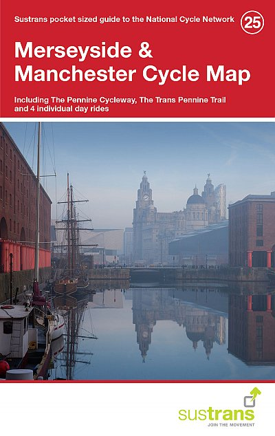 CCG25 Merseyside & Manchester Cycle Map 1:110.000 9781910845004  Cycle City Guides / Sustrans   Fietskaarten Midlands, Cotswolds, Oxford