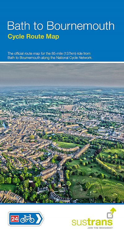 NCN 24 & 25 Bath to Bournemouth Cycle Route Map 1:110.000 9781910845400  Sustrans Nat. Cycle Network  Fietskaarten Zuidwest-Engeland, Cornwall, Devon, Somerset, Dorset