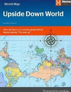 Upside Down World in Envelope 9781925195118  Hema Maps   Landkaarten en wegenkaarten Wereld als geheel