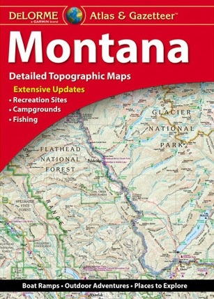 Montana Delorme Atlas & Gazetteer 9781946494023  Delorme Delorme Atlassen  Wegenatlassen Washington, Oregon, Idaho, Wyoming, Montana