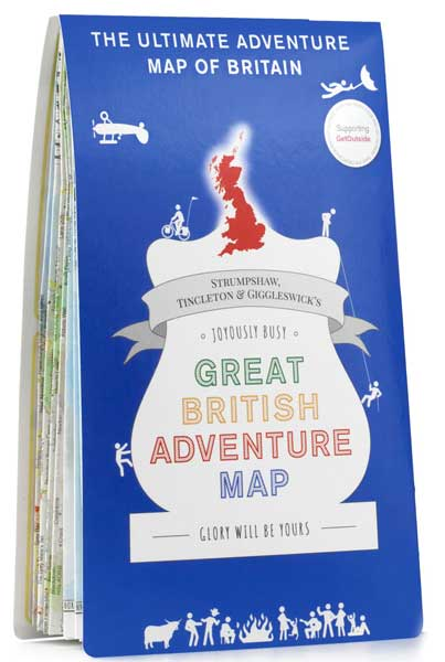 Great British Adventure Map 9781999784508  Ordnance Survey   Landkaarten en wegenkaarten Groot-Brittannië