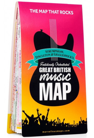 Marvellous Maps: Great British Music Map 9781999784522  Strumpshaw, Tincleton & Giggleswick's   Muziek Groot-Brittannië