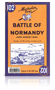 102 Battle of Normandy, june - august 1944 9782067002623  Michelin   Historische reisgidsen, Landeninformatie Normandië