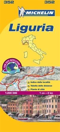 352 Liguria | Michelin  wegenkaart, autokaart 1:200.000 9782067127142  Michelin Michelin Italië 1:200.000  Landkaarten en wegenkaarten Genua, Ligurië