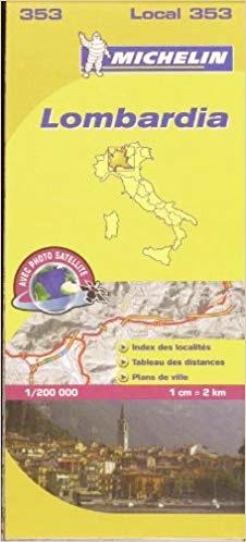 353 Lombardia | Michelin  wegenkaart, autokaart 1:200.000 9782067127159  Michelin Michelin Italië 1:200.000  Landkaarten en wegenkaarten Milaan, Lombardije, Italiaanse Meren